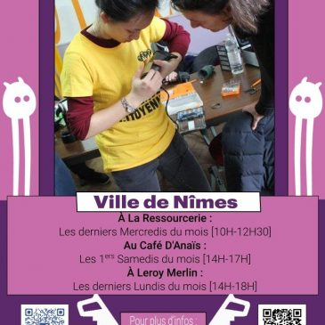 Répare Café – Les premiers samedis de chaque mois (prochaines dates 07/11 et 5/12)
